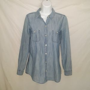 Old Navy Womens Chambray Shirt Size S